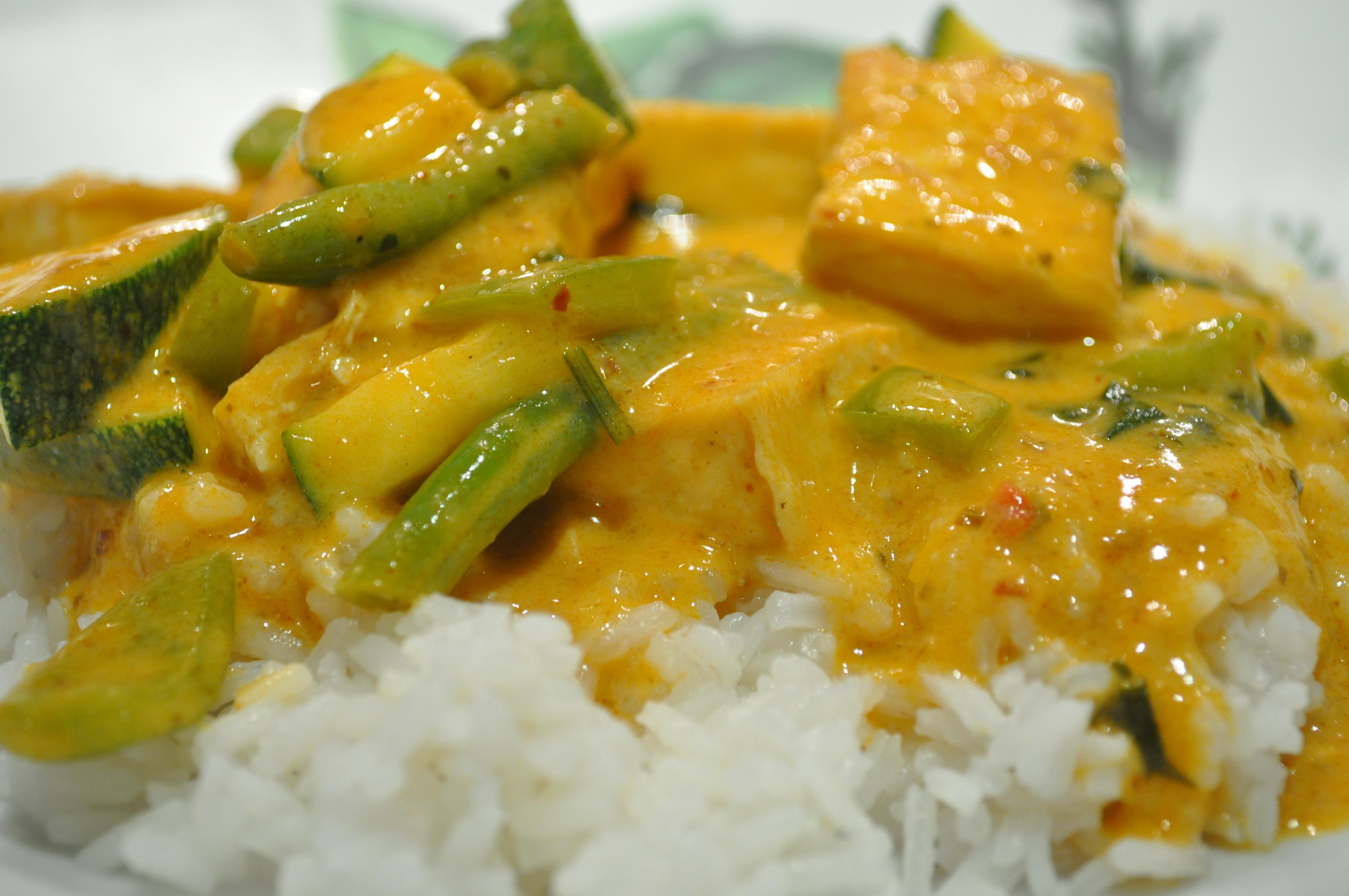 quinoa or rice and thai coconut tofu curry tofu veggie red curry tofu ...